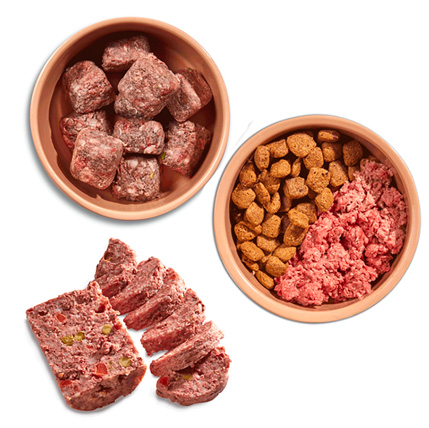 Natures Menu raw food in bowls